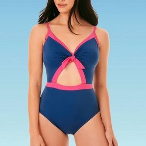 NWT Beach Betty Blue/Pink One Piece Swimsuit